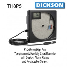 Dickson TH8P5 Temperature Humidity Chart Recorder
